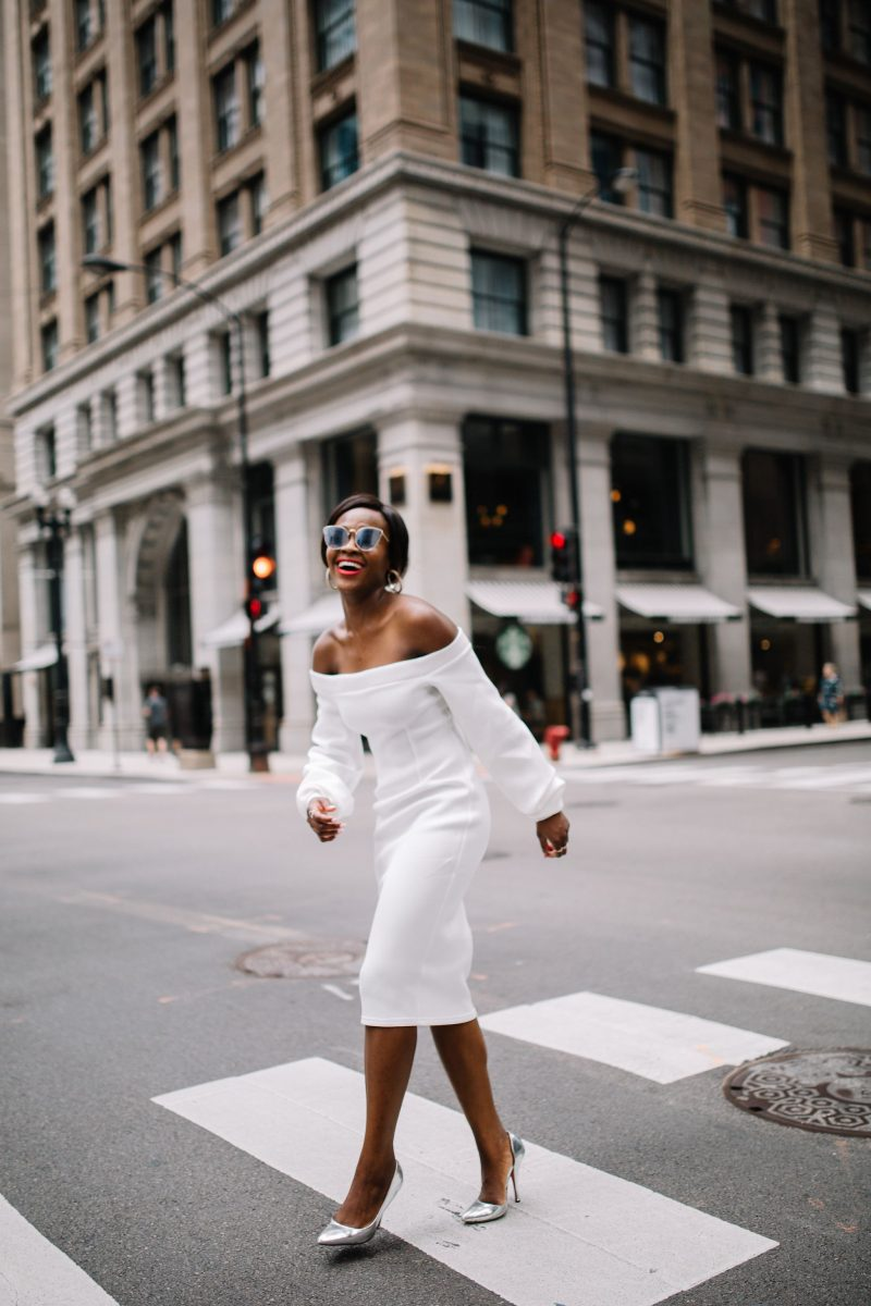 How to wear a white off shoulder dress