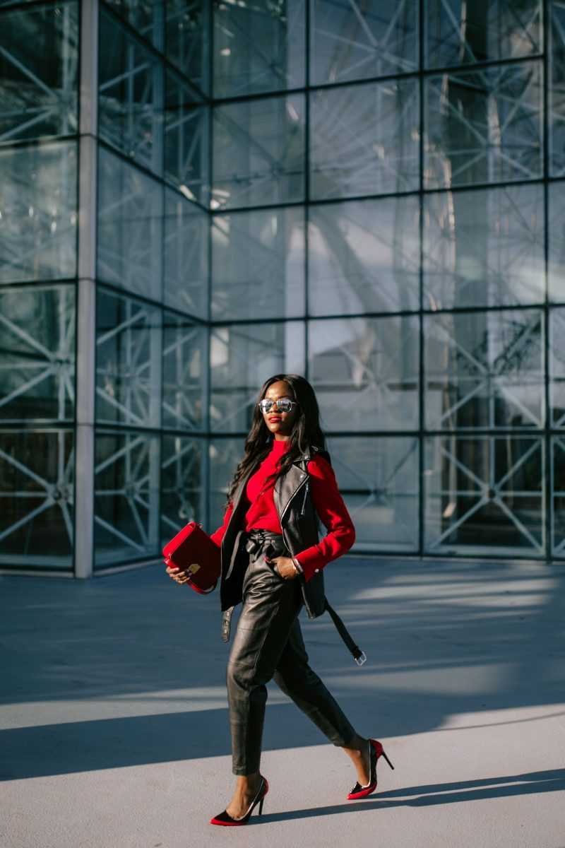 Red hot, Cranberry Tantrums, Asos Leather Pants