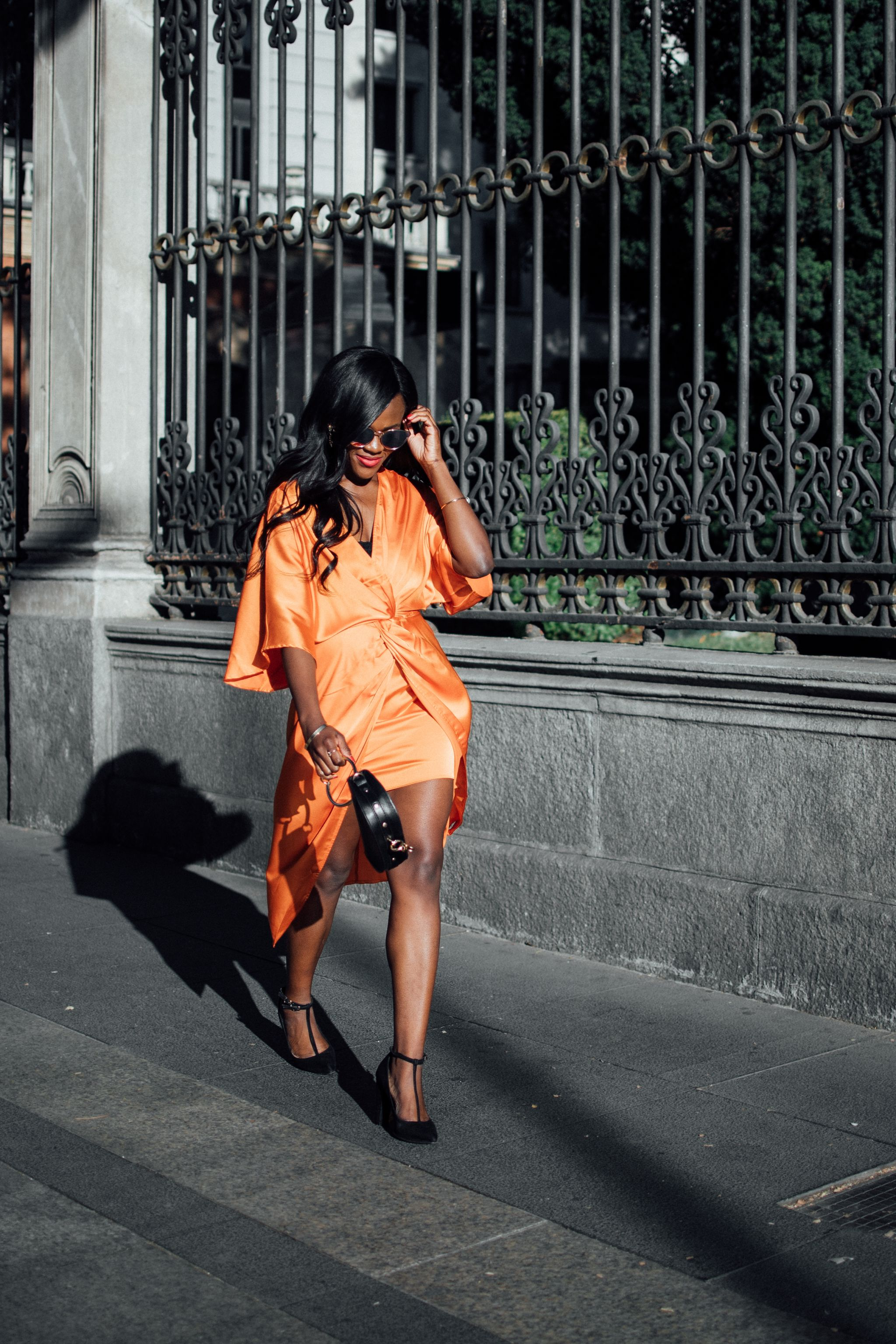Madrid Travel Diaries, Cranberry Tantrums, Orange dress,