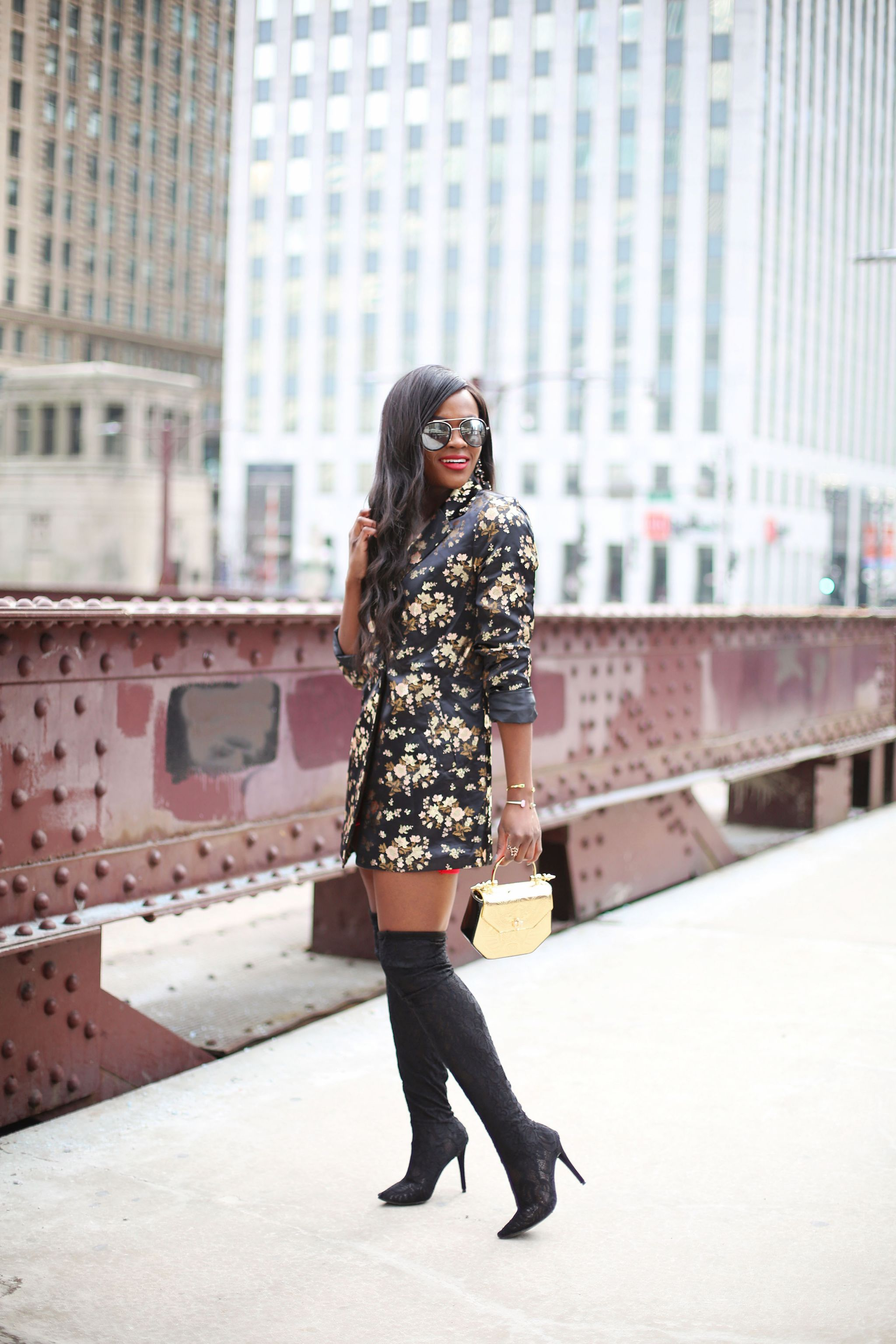 Floral embroidered blazer, Valentine's day