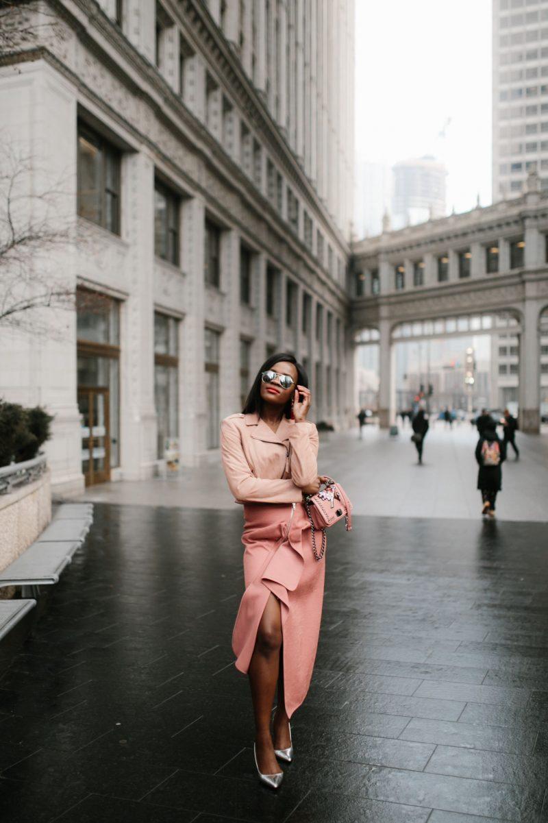 Blush tones, Jennifer Ibe, Fashion Blogger, Chicago Fashion Blogger
