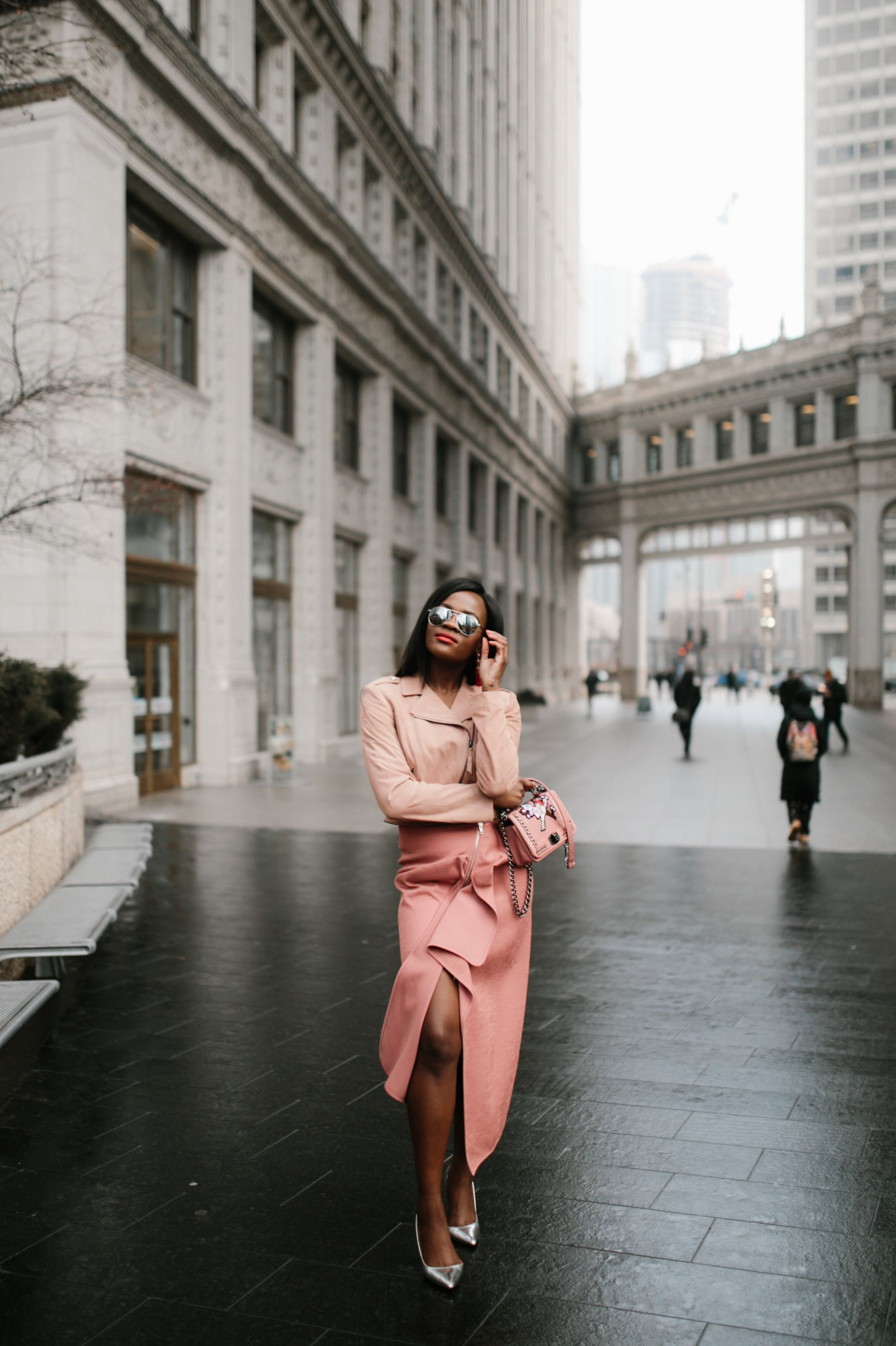 Blush tones, Jennifer Ibe, Fashion Blogger, Chicago Fashion Blogger