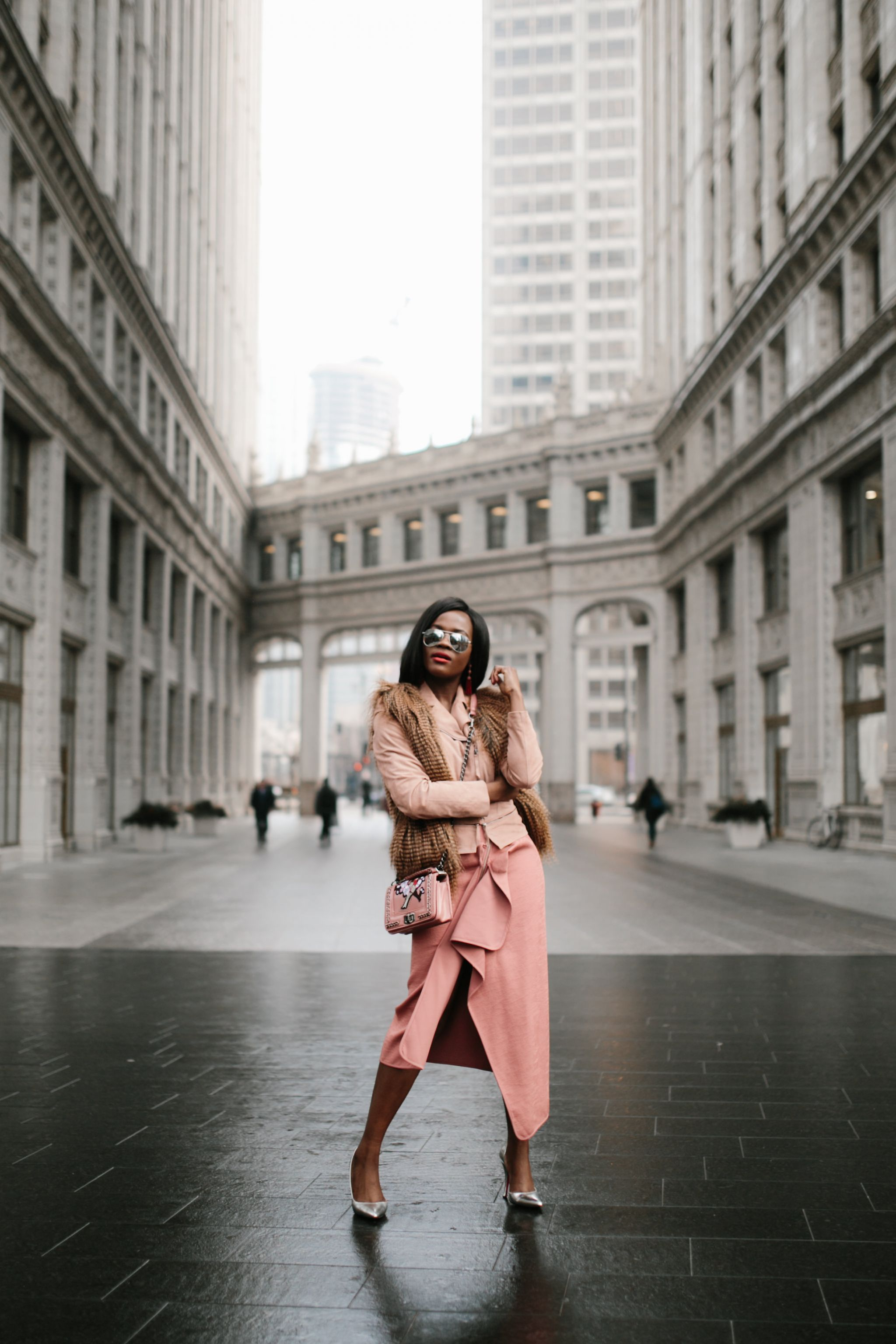 Blush tones, Fashion Blogger, Chicago Fashion Blogger