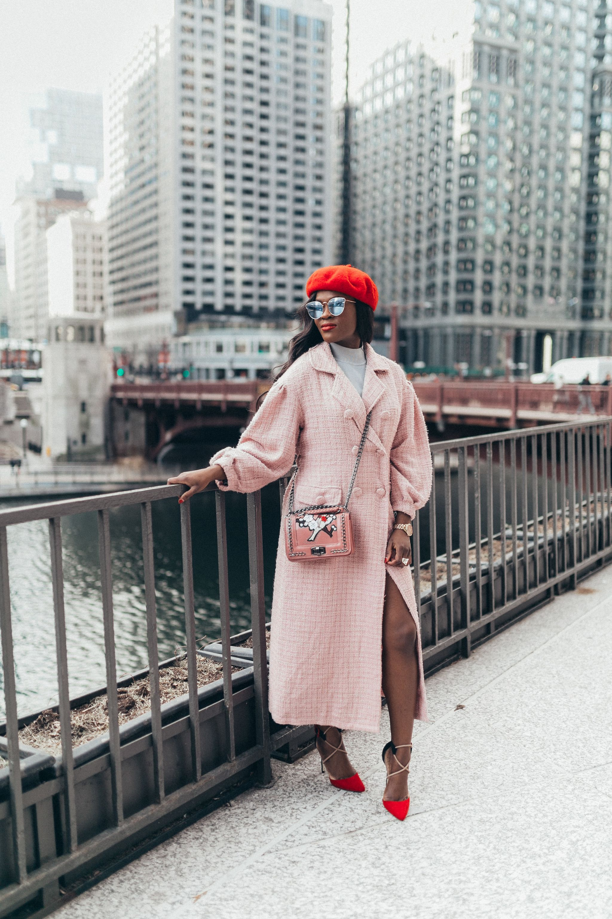 Chanel inspired Pink coat, Pink Tweed Coat, Cranberry Tantrums, Parisian Style