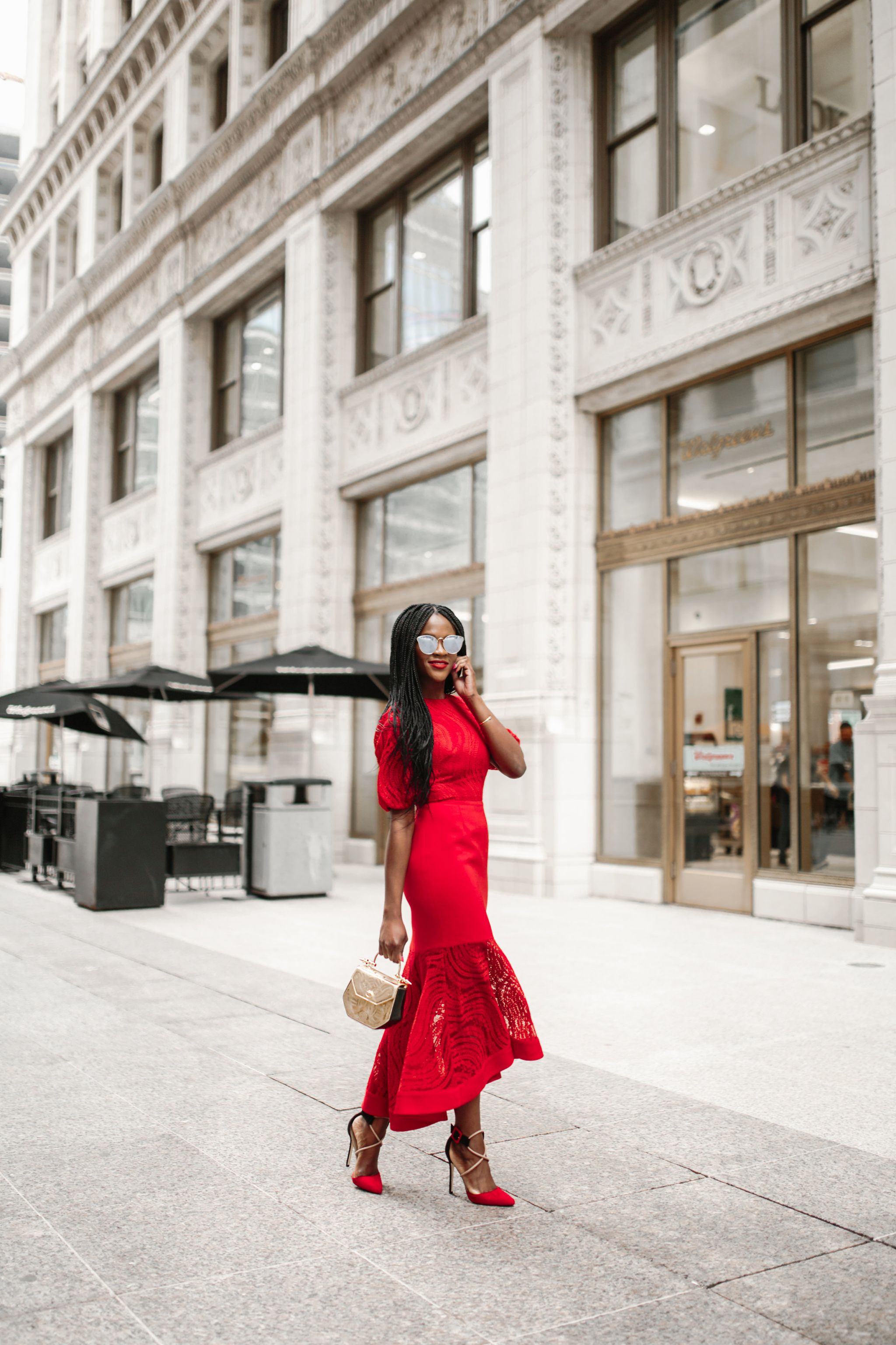The perfect red dress for a wedding, Cranberry Tantrums, Chicago Fashion Guide