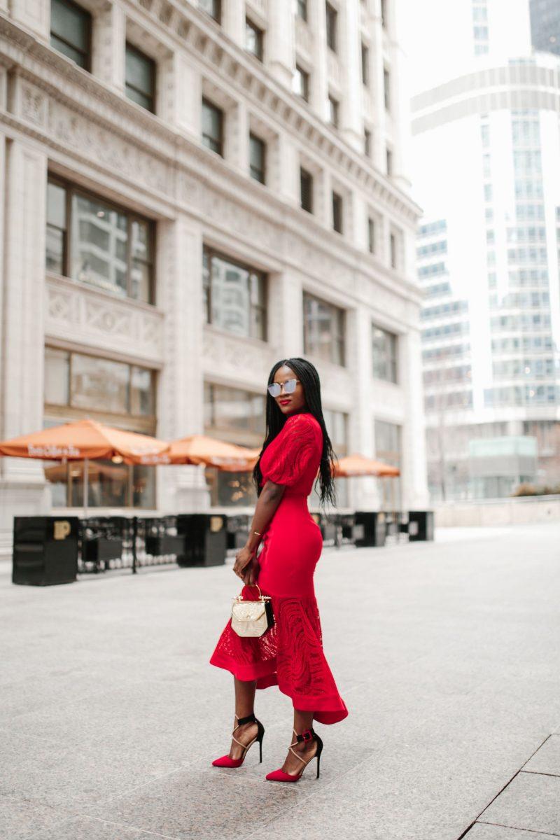 Keepsake Flawless love Midi Dress; Red Dress, what to wear to a wedding