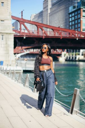 Street Style in Nike Sports Bra, Cranberry Tantrums