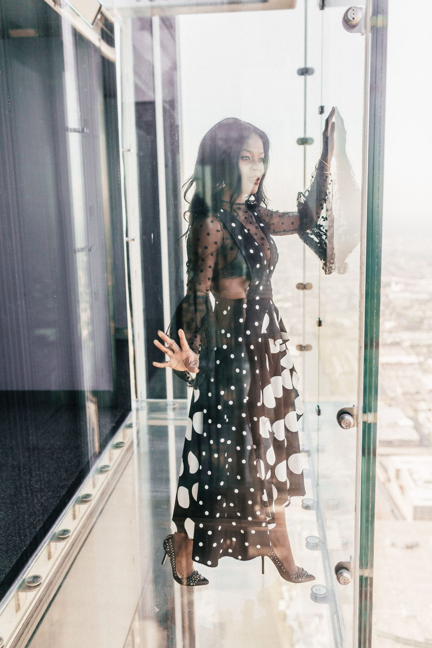 Jennifer Ibe of Cranberry Tantrums at Chicago Skydeck