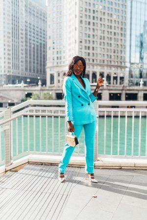 Blue Power Suit; Cranberry Tantrums