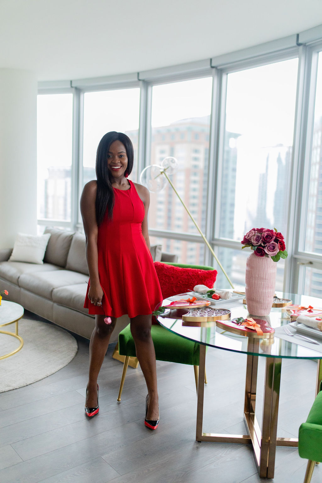 How to wear red to a Valentine's day party