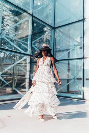 Polka dot dress for wedding season