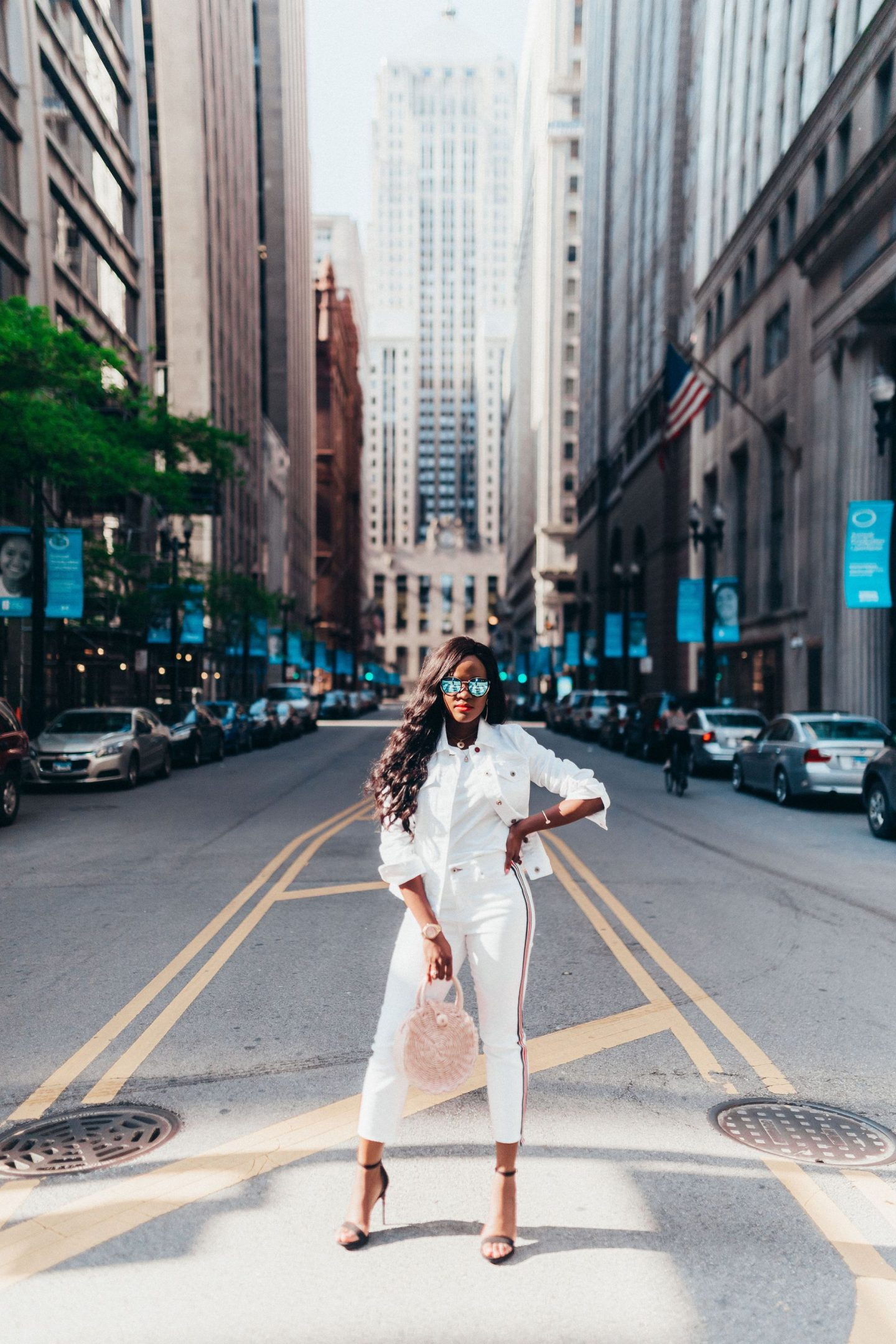 Summer style; All  white look