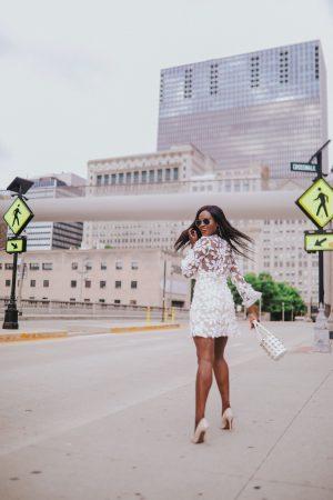 Asos lace white dress
