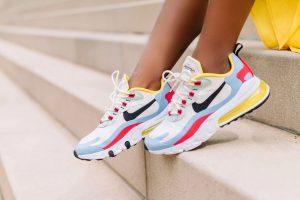 Chicago Fashion Blogger, Jennifer Ibe, wearing Nike Air Max React 270