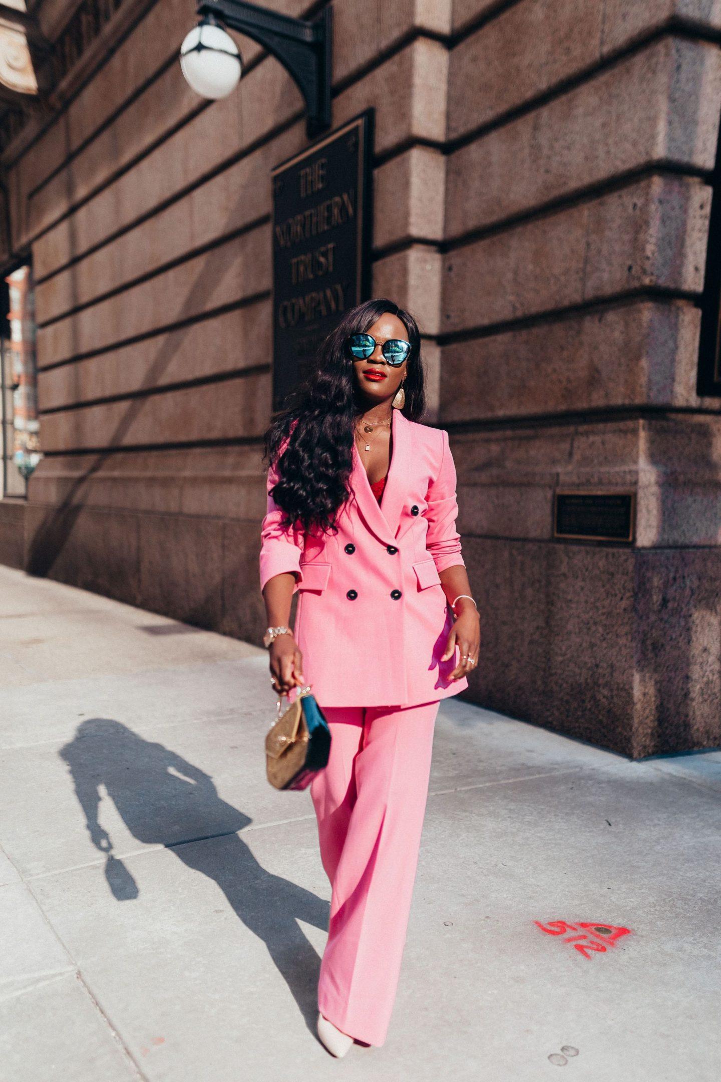 Pink Pant suit