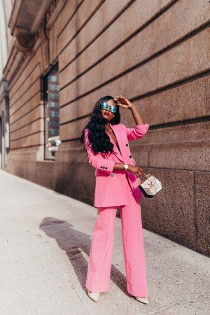 Pink Power Suit; Cranberry Tantrums; Chicago Fashion Blog