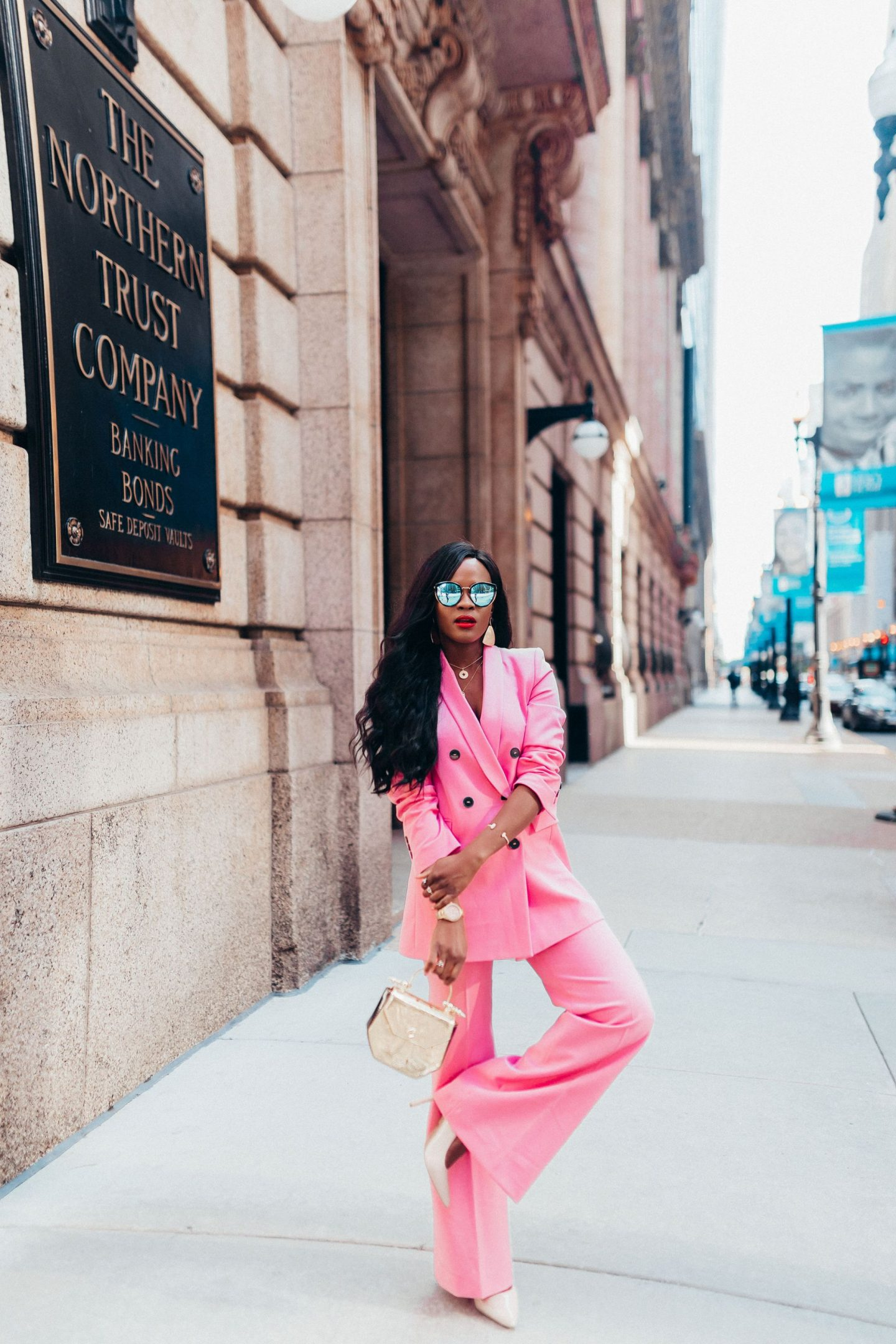 Pink Blazer and Pink Pant