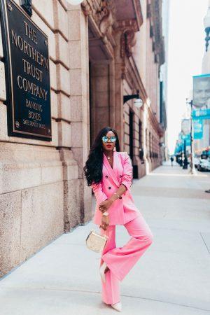 Pink Blazer and Pink Pant
