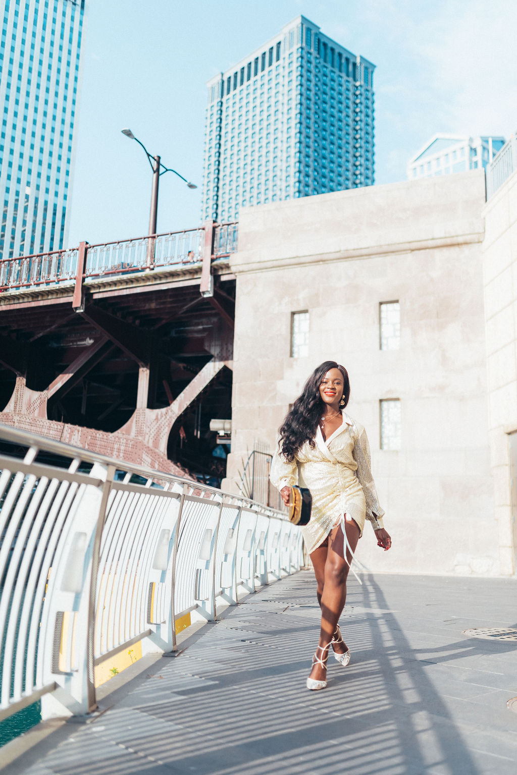 Chicago Lifestyle and Fashion Blog, Jenn Ibe, Gold Sequined dress