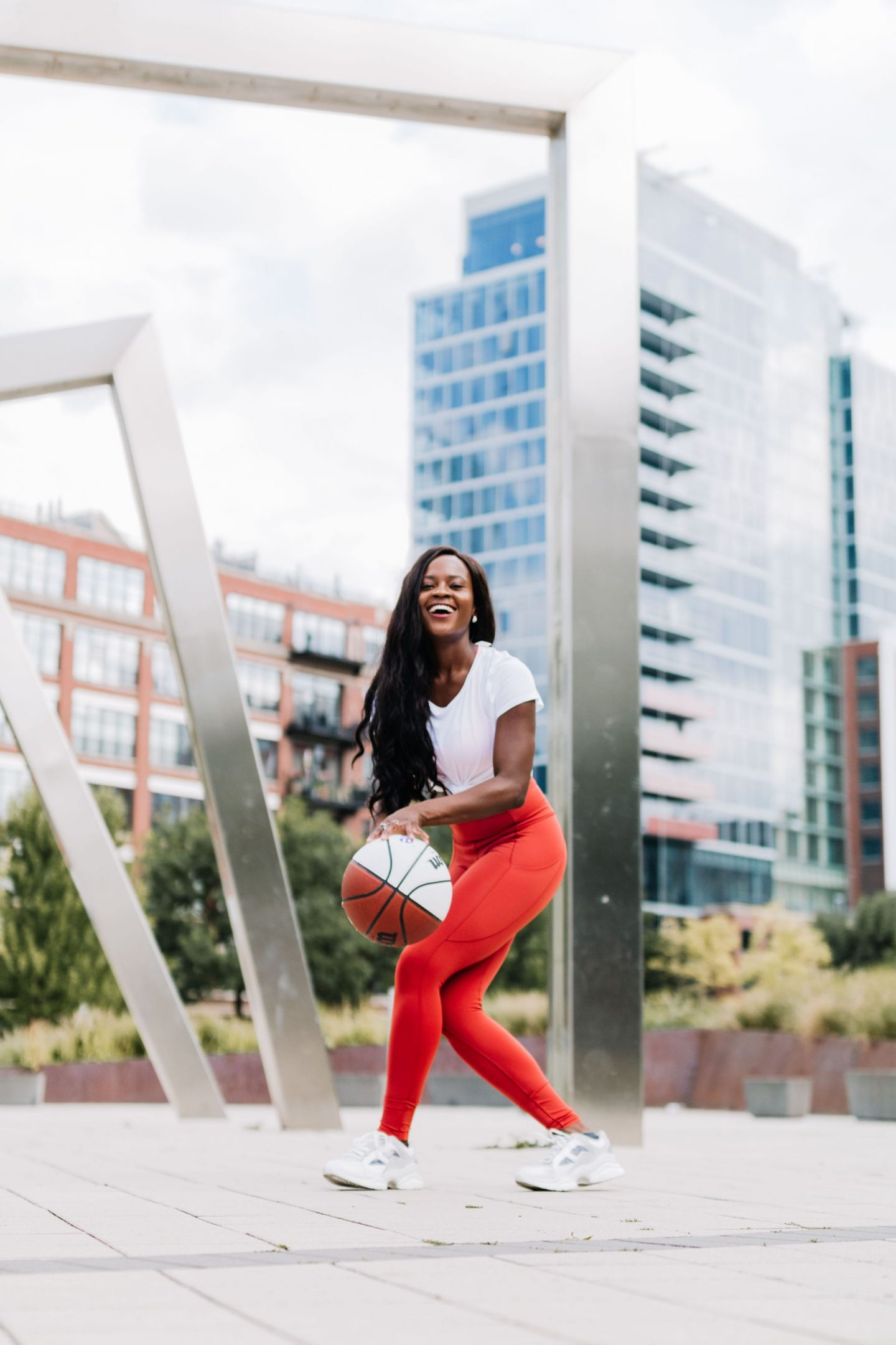 how to keep the fun in your active life with lululemon, Jenn Ibe, Cranberry Tantrums playing basketball