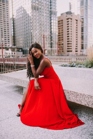The perfect red dress for the holidays | Cranberry Tantrums