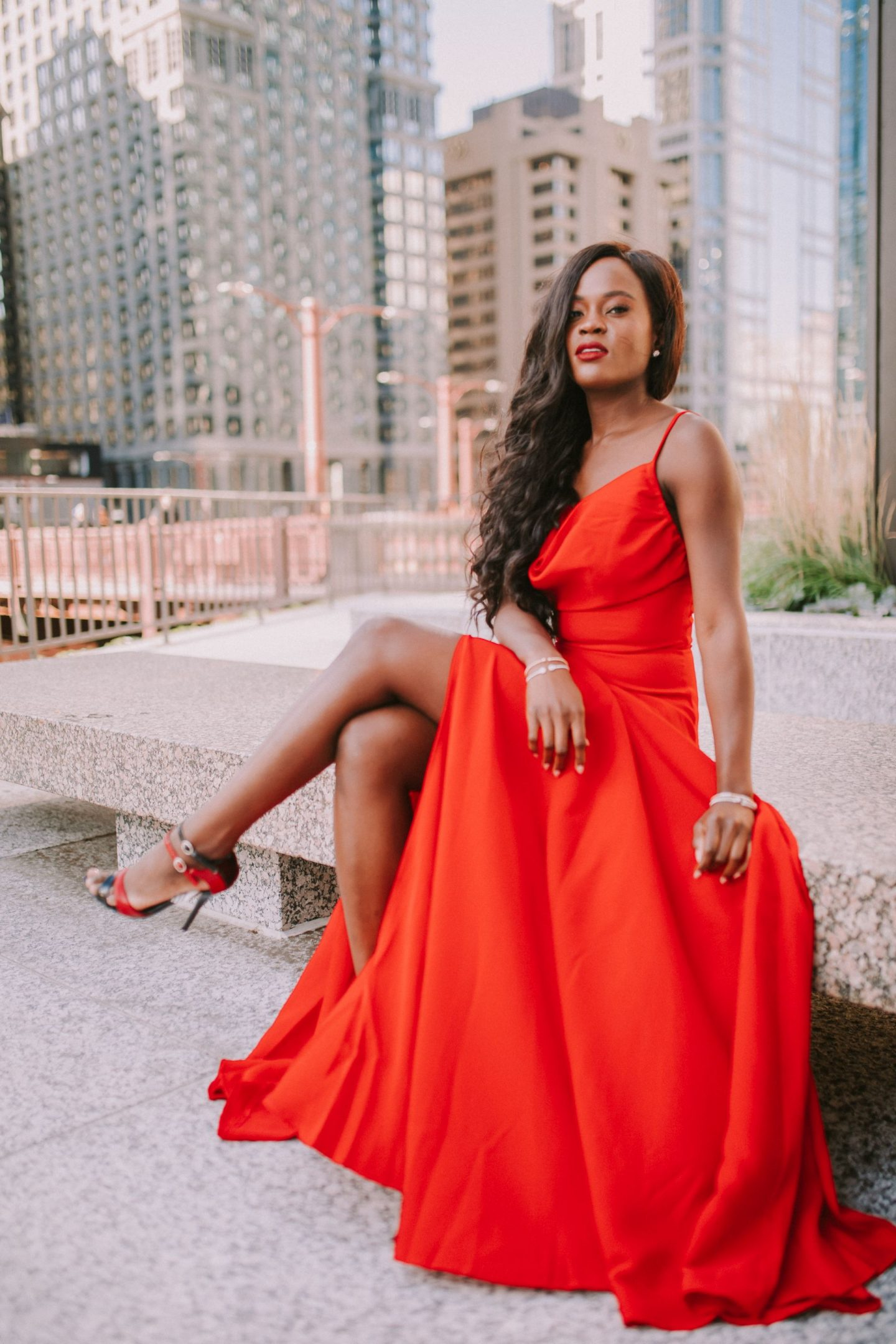 jennifer ibe, how to score the perfect red dress for the holidays