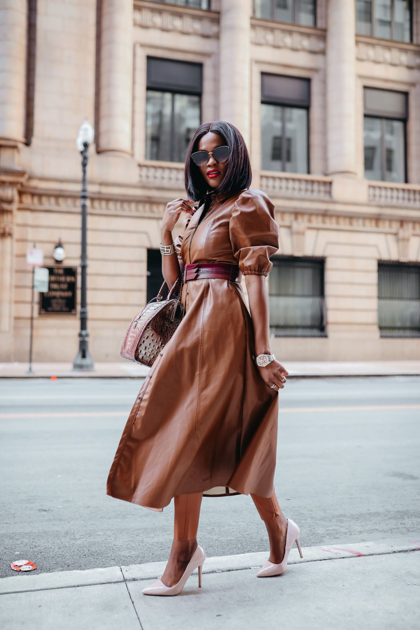 A chic way to wear leather for Fall/ Winter