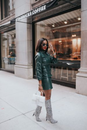 Cranberry Tantrums : How to style a little leather dress