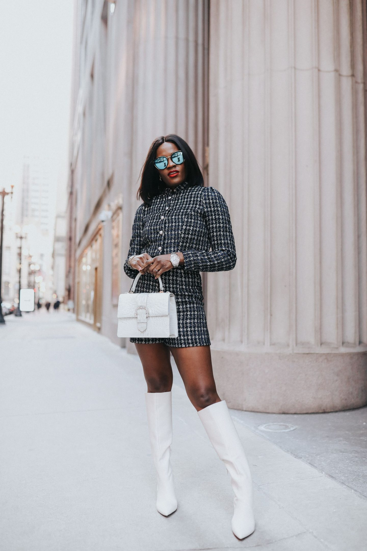 Jenn Ibe, Cranberry Tantrums, How to wear a tweed set
