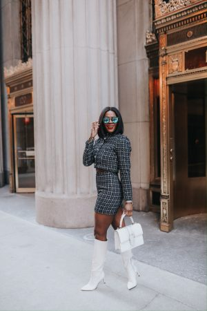 How to wear tweed piece sets