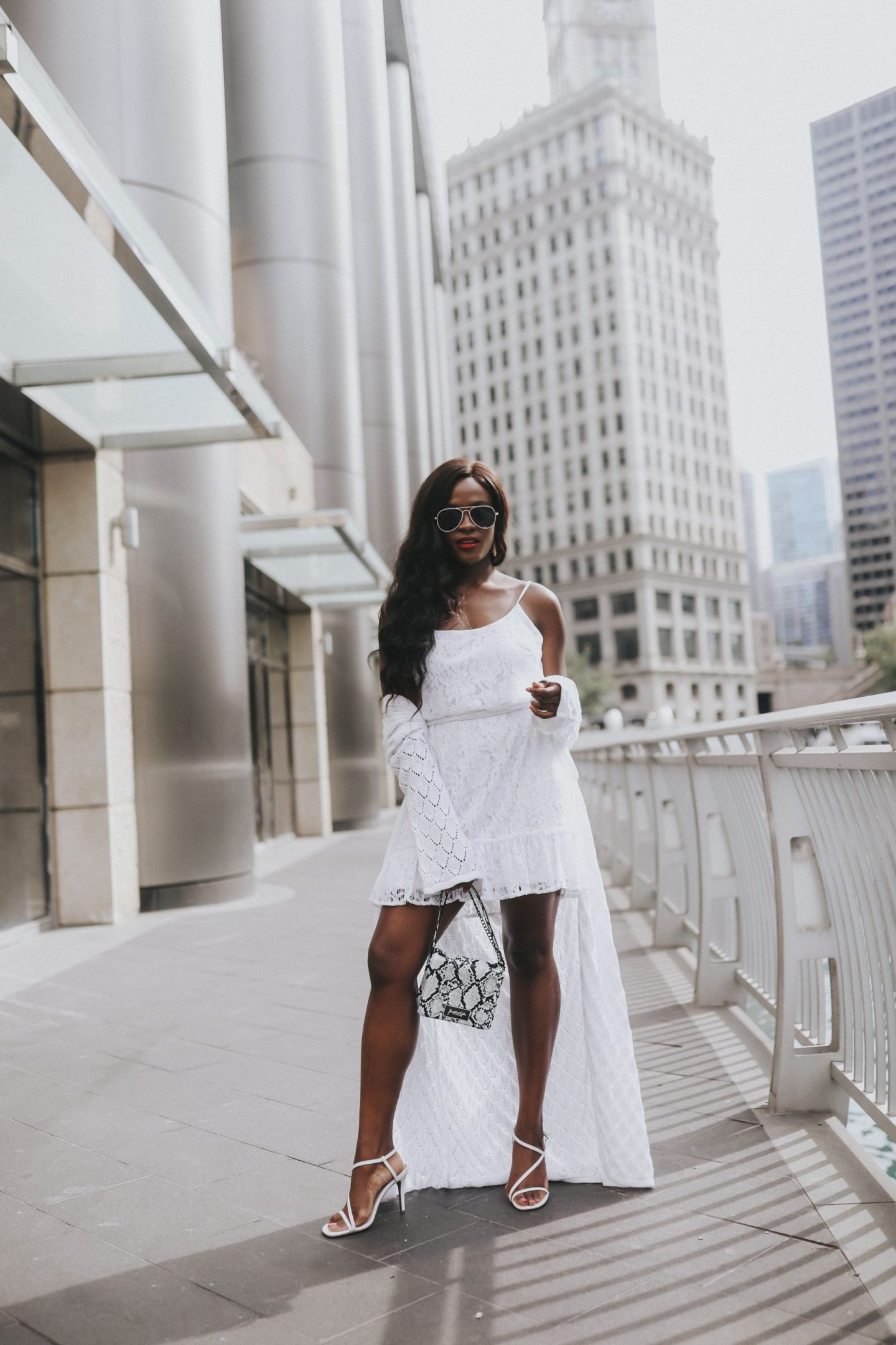 How to pair a cardigan with a white tank dress
