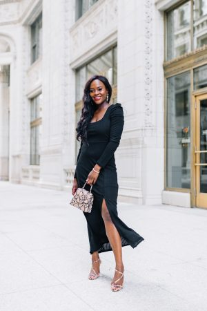 Jenn Ibe, Cranberry Tantrums, How to wear a midi dress for fall