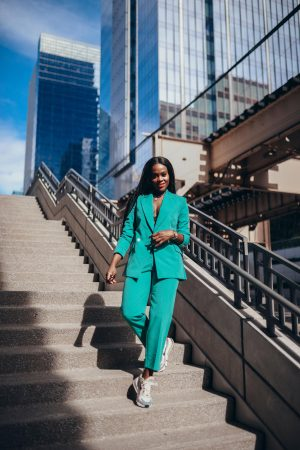 Mint Green power suit