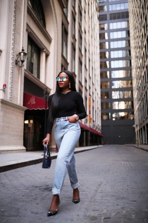 Jenn ibe, Cranberry Tantrums in mom jeans and asos top