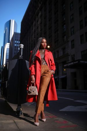 How to mix up shades of brown in an outfit