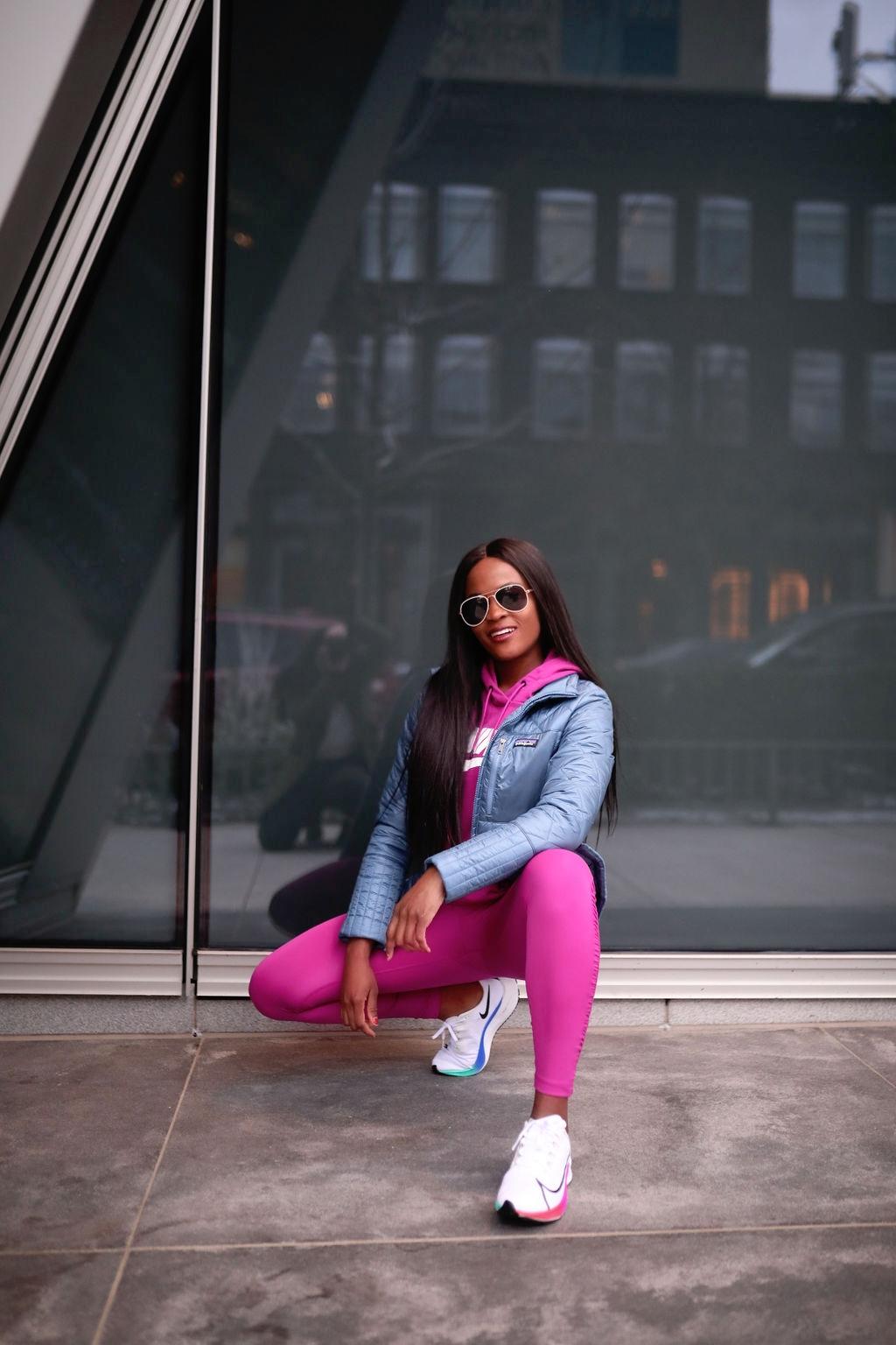 Patagonia Women's Radalie Jacket; Nike Sportswear Women's Essential Fleece Pullover Hoodie