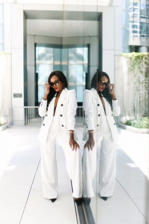 How to style a white suit